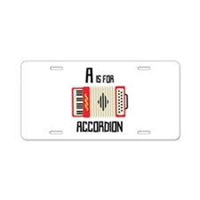 A For Accordion Aluminum License Plate