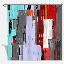 Bright City Design Shower Curtain