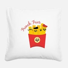 French Fries Square Canvas Pillow