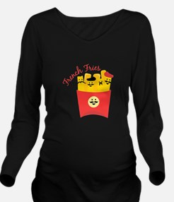 French Fries Long Sleeve Maternity T-Shirt