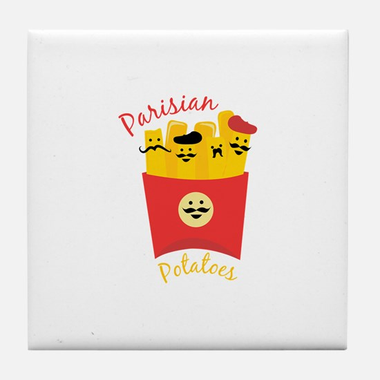 Parisian Potatoes Tile Coaster