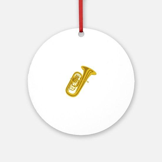 Tuba Ornament (Round)