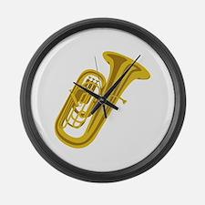 Tuba Large Wall Clock
