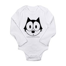 Funny Felix the cat Long Sleeve Infant Bodysuit
