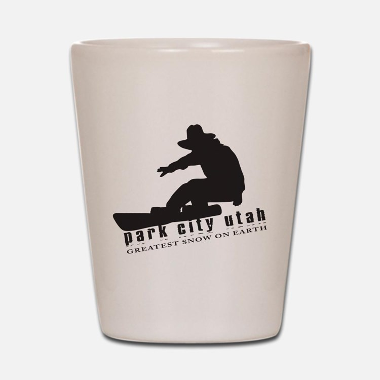 Park City Snowboarding Shot Glass