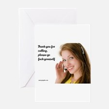 GFY Call Center Girl Greeting Cards