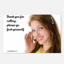GFY Call Center Girl Postcards (Package of 8)