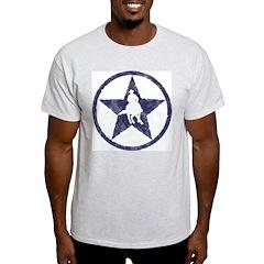 Distressed blue star turnaround T-Shirt