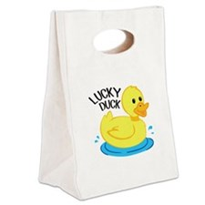 Lucky Duck Canvas Lunch Tote
