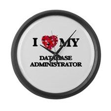 I love my Database Administrator Large Wall Clock