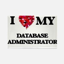 I love my Database Administrator hearts de Magnets