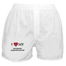I love my Database Administrator hear Boxer Shorts