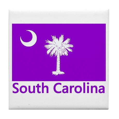 South Carolina Flag Tile Coaster