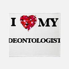 I love my Deontologist hearts design Throw Blanket