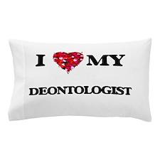 I love my Deontologist hearts design Pillow Case