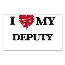 I love my Deputy hearts design Decal