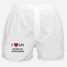 I love my Desktop Publisher hearts de Boxer Shorts