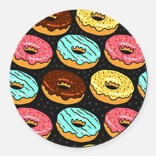 Donuts Round Car Magnet