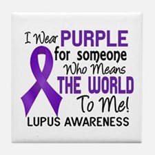 Lupus MeansWorldToMe2 Tile Coaster