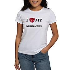 I love my Dishwasher hearts design T-Shirt