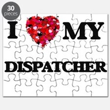 I love my Dispatcher hearts design Puzzle