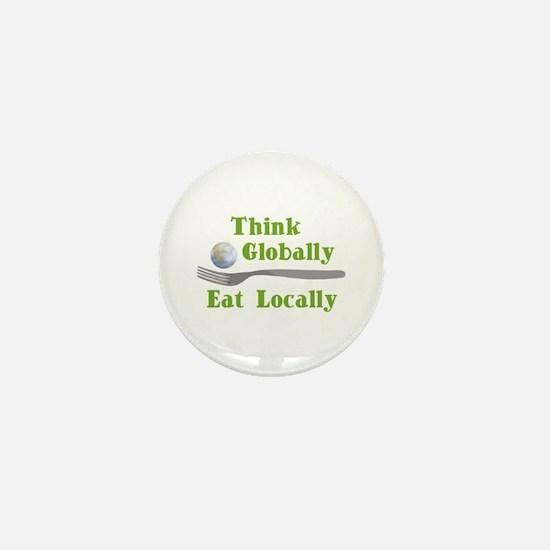 Eat Locally Mini Button