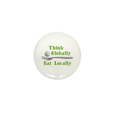 Eat Locally Mini Button (10 pack)