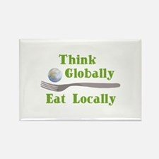Eat Locally Rectangle Magnet