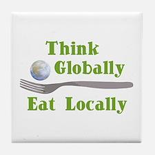 Eat Locally Tile Coaster