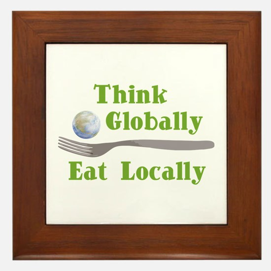 Eat Locally Framed Tile