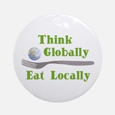 Eat Locally Ornament (Round)