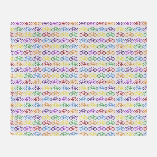 bicycles Throw Blanket