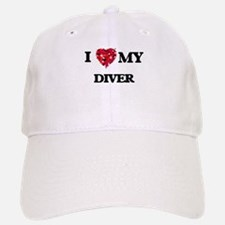 I love my Diver hearts design Baseball Baseball Cap