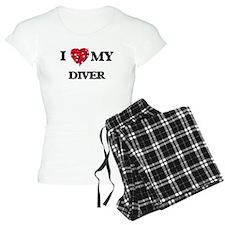 I love my Diver hearts desi Pajamas