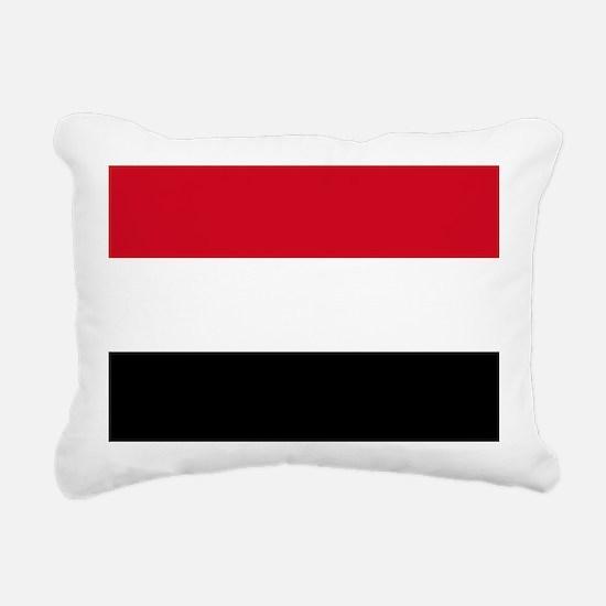 Flag of Yemen Rectangular Canvas Pillow