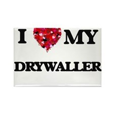 I love my Drywaller hearts design Magnets