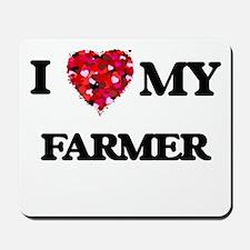 I love my Farmer hearts design Mousepad