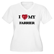 I love my Farrier hearts design Plus Size T-Shirt
