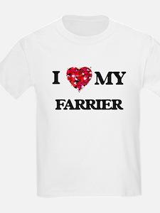 I love my Farrier hearts design T-Shirt