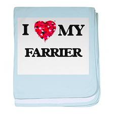 I love my Farrier hearts design baby blanket