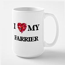 I love my Farrier hearts design Mugs
