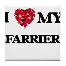 I love my Farrier hearts design Tile Coaster