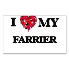 I love my Farrier hearts design Decal