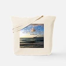 ROMANS 8:28 Tote Bag
