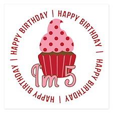 5th Birthday Cupcake Invitations