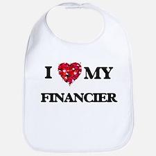 I love my Financier hearts design Bib