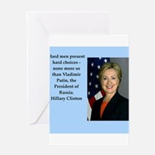hillary clinton quote Greeting Cards