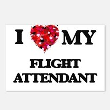I love my Flight Attendan Postcards (Package of 8)
