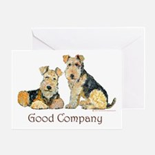 Airedale Terriers - Good Comp Greeting Card