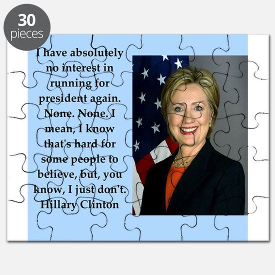 hillary clinton quote Puzzle
